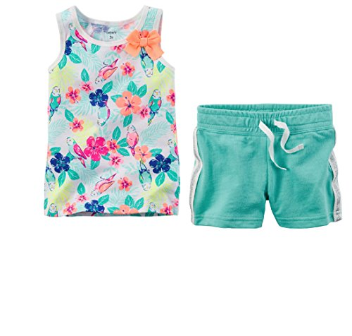 Carter's Toddler Girls Cute Shorts and Top Set 2T-5T