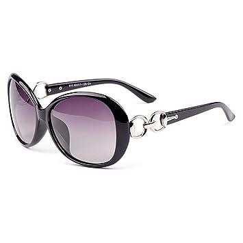 Kry Casual Sport Lunettes de soleil polarisées pour conduite d'extérieur femmes mode Lunettes de soleil oversize UV400Étui à lunettes Bleu 2 FKGMi1