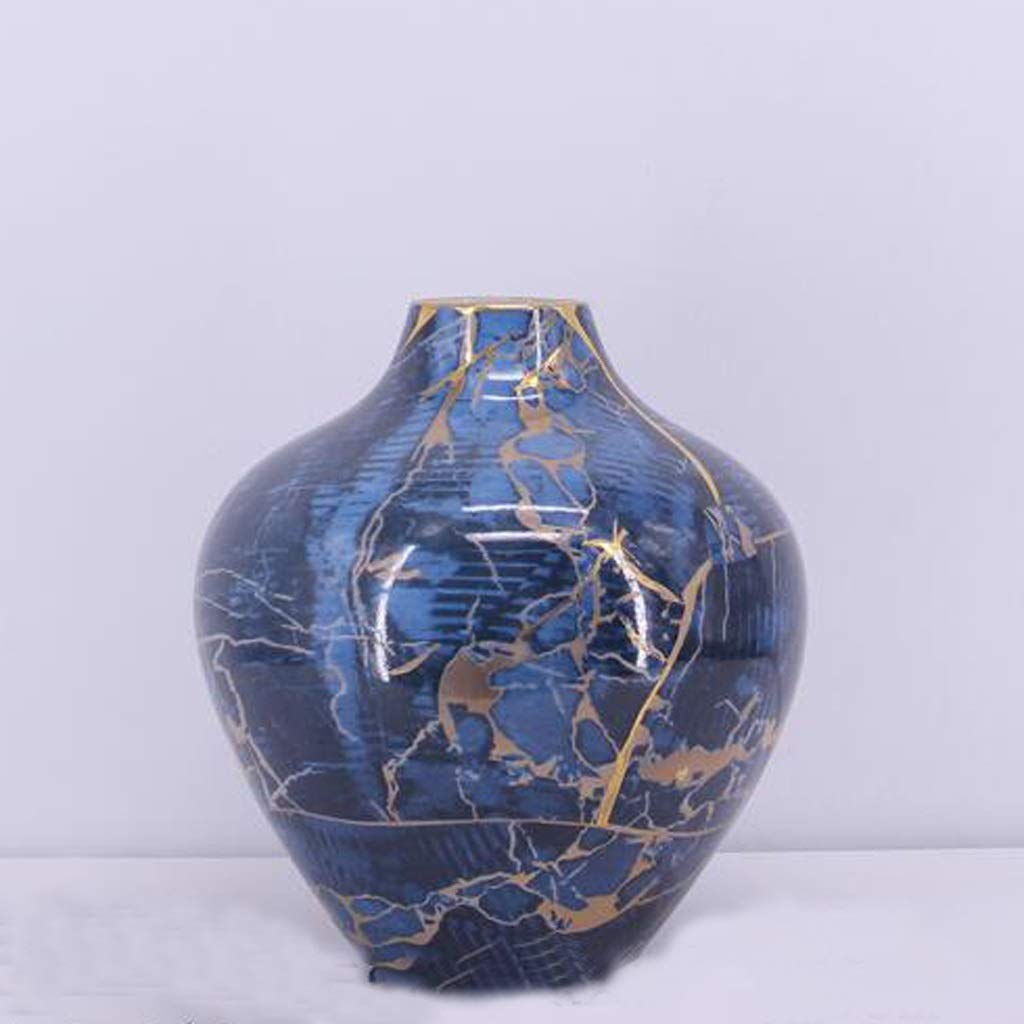 HBJP セラミック花瓶/リビング用卓上フラワーアレンジメント飾り/サイズ(24cm×24cm×26cm) 花瓶 B07SCR7HSS