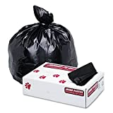 Jaguar Plastics Super Extra-Heavy Can Liners, 60 Gallon, 1.7 Milliliters, 38 x 58, Black, 100/Pack (G3858HBL)