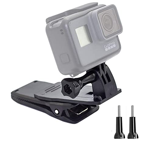 38de0387cc6 Homeet Pince Fixation Caméra Sac Pince Clip pour Sac à Dos 360 Degrés  Rotation Support Accessoires