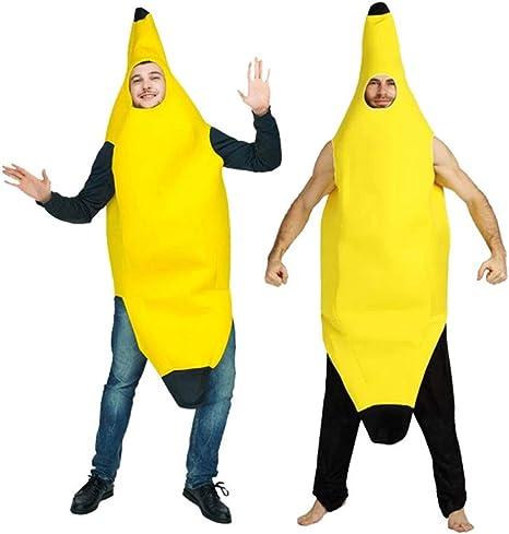 UNiiyi Disfraz de plátano para Adultos de Halloween Disfraz de ...