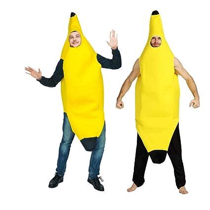UNiiyi Disfraz de plátano para Adultos de Halloween Disfraz ...