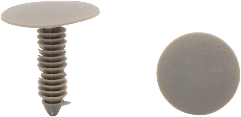 Sourcingmap 50Pcs 8mm Agujero Moldura de Coche Grapa de Retenci/ón Clip Pl/ástico Blanco