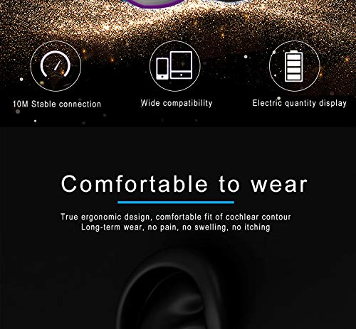 Wireless Earbuds, Bluetooth 5.0 Headphones True Wireless Earphones with Mic and Portable Charging Case, IPX7 Waterproof 15H Playtime In-Ear Wireless Headphones for iPhone and Android(Silver)