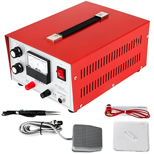 LOVSHARE 50A Jewelry Spot Welding Machine 400W Pedal Spot Stick Welder Electric Soldering Accessories Tools for Jewelry Gold Silver Platinum Palladium (Jewelry Spot Welder)