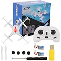 2.4GHz 4 Channel 6-Axis Gyro Drone with Headless Mode One Key Auto-Return Quadcopter RC Quadcopter with 2 Battery White