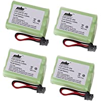 Replacement battery for Uniden BT-909 Cordless Phone Battery, 4 Pack Rechargeable Cordless Phone Battery for Uniden BT-909 BT909 BT-1001 BT1001 BT-1004 BT1004 Cordless Telephone Battery Replacement