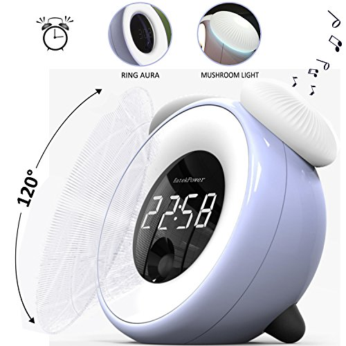 Alarm Clock,EatekPower Wake Up Light Clock with Stepless Adjustable...