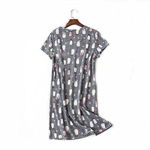 Manica Elegante Gonna Abito Pigiama Vestito Casual Donna Lunga amp;w Estivo Wholesaler Penguin S wYAfqHA
