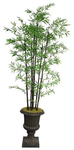 Laura Ashley VHX106213 86-Inch Black Bamboo Tree in 16-Inch Fiber Stone Planter