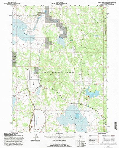Boles Meadow East CA topo map, 1:24000 scale, 7.5 X 7.5 Minute, Historical, 1993, updated 1996, 26.7 x 21.4 IN - - Valley Map Of Antelope Ca