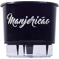 Vaso Plástico Preto Autoirrigável Gourmet Tempero Manjericão
