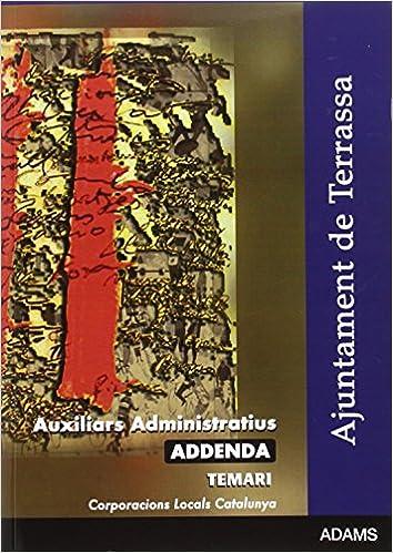 Amazon.com: AUXILIARS ADMINISTRATIUS AJUNTAMENT DE TERRASSA ...