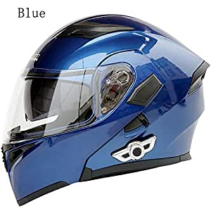 Amazon.com: MOPHOTO - Casco de moto integrado con Bluetooth ...