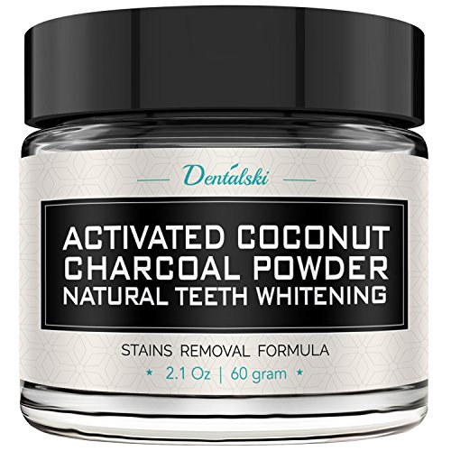 Price comparison product image Activated Charcoal Teeth Whitening Powder - Made in USA with Organic Coconut Activated Charcoal for Safe Effective Teeth Whitening, 100% Natural, Better Than Strips, Kit, Gel & Whitening Toothpaste