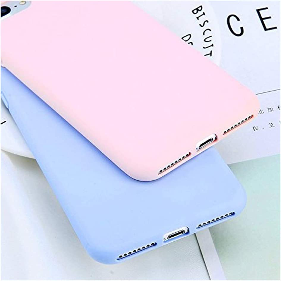 Mixneer Simple Candy Color Plain Phone Case Compatible with iPhone 6S Plus Soft TPU Silicon Full Back Cover Compatible with iPhone 6S Plus Case - Lake Blue