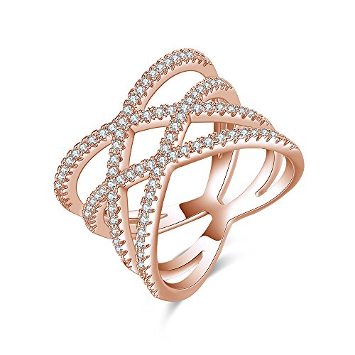 Cross Cocktail Ring (Mytys Jewelry Double