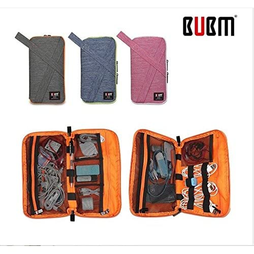 new BUBM PDI Travel Digital Colorful Carrying Bag Storage Box for Smartphone Electronic Accessories 1 Bag Random Color