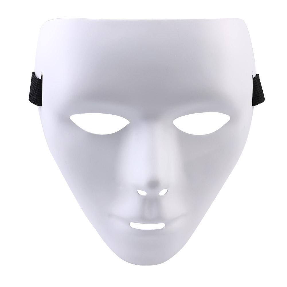 White JabbaWockeeZ Halloween Face Mask Hip Hop Ghost Dance Party Unisex