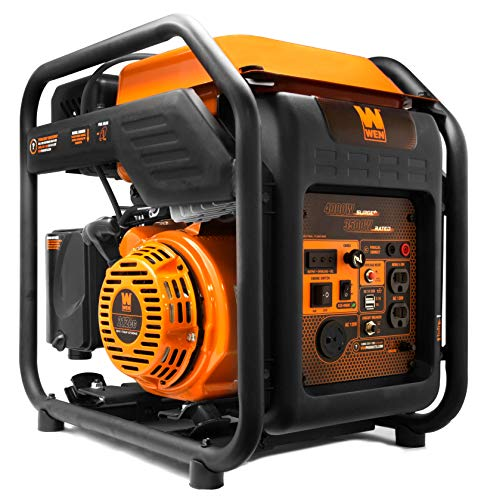 WEN GN400i RV-Ready 4000-Watt Open Frame Inverter Generator, CARB Compliant