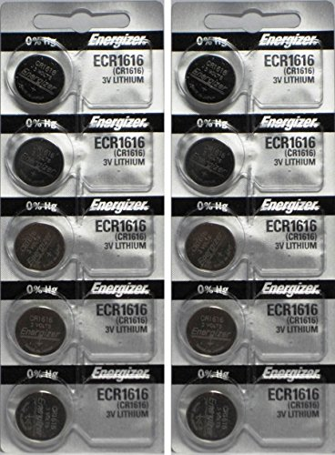 10 Energizer CR1616 Lithium Batteries