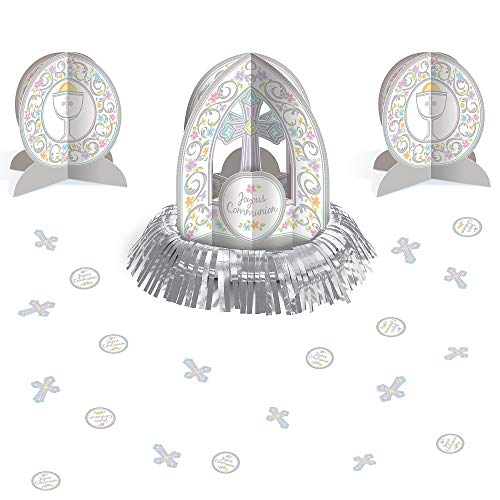 Amscan Blessed Day First Communion Centerpiece Kit, Party Decorations, Includes 3 Centerpieces, 27 Pieces