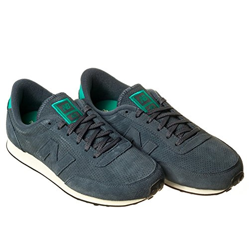 New Balance Schuhe U 410 Unisex deep blue-force green-black (U410PB), 45,5, blau
