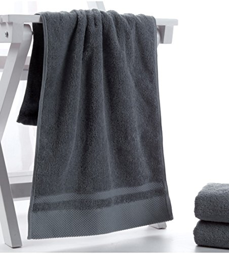 HONEYJOY 4 Pack Soft Luxury Hand Towels Set Hotel and Spa Quality 100% Ring Spun Genuine Cotton Towel, Multipurpose Use for Face, Bath, Gym, Spa, Family (White Grey Blue Khaki, 13.38 x 29.5 Inches) by HONEYJOY (Image #2)