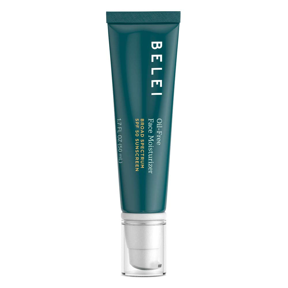 Belei Oil-Free SPF 50 Moisturizing Sunscreen, UVA/UVB Protection, Fragrance Free, Paraben Free, 1.7 Fluid Ounce (50 mL)