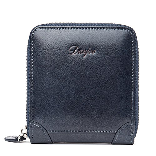 wallet wallet wild simple first cowhide fashion Blue D6029 layer casual DANJUE men's wRq4pXxw