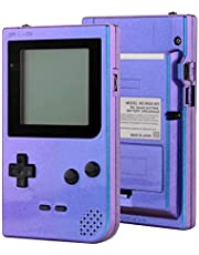 eXtremeRate Chameleon Purple Blue Custom Full Housing Cover for Gameboy Pocket, Soft Touch GBP Replacement Shell for Game Boy Pocket w/Screen Lens & Buttons Kit - Handheld Game Console NOT Included