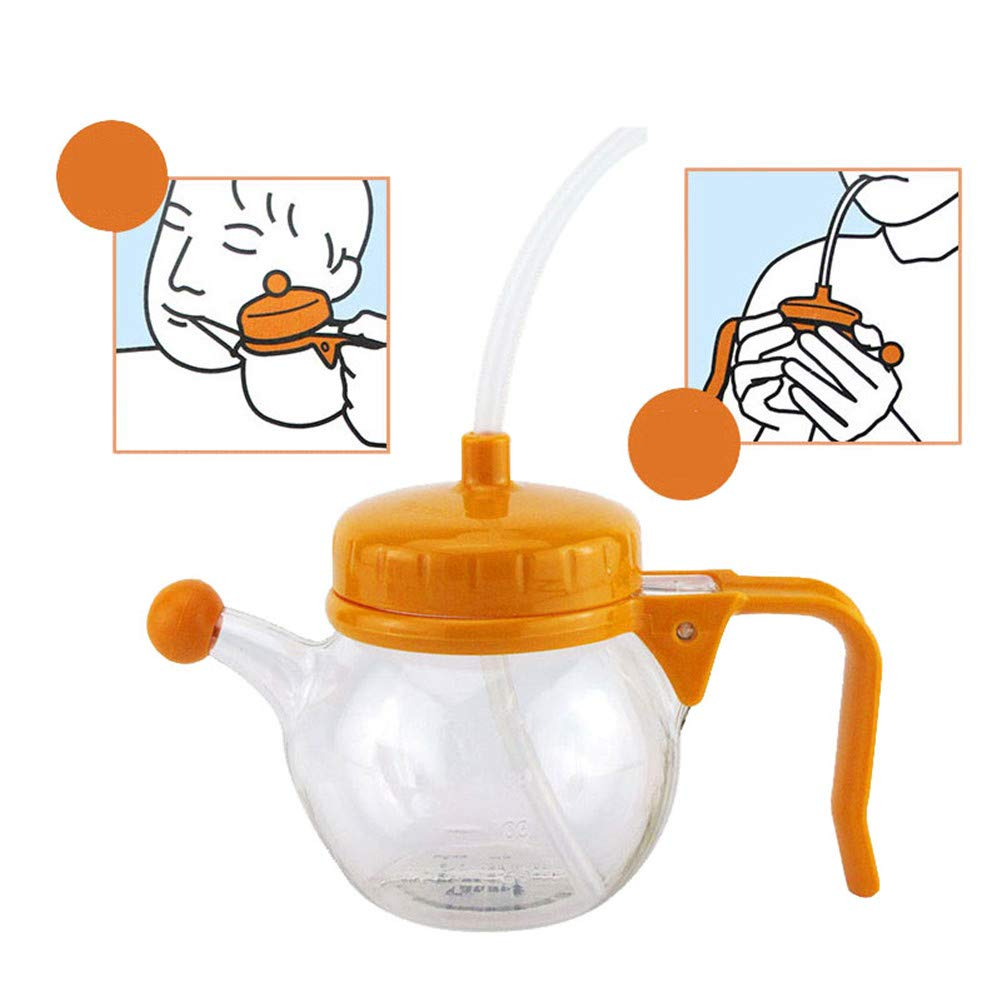 WLIXZ Feeding Device for Disabled & Elderly, with Cover Leakproof and Anti-Mite