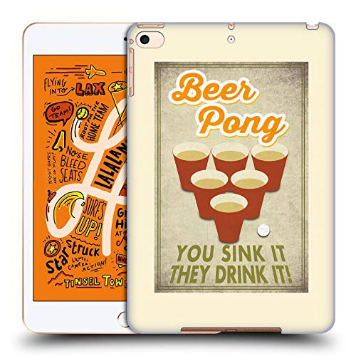 Official Lantern Press Beer Pong Man Cave Hard Back Case Compatible for iPad Mini (2019) (Pong Case Ipad Mini)