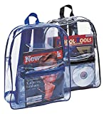 CLEAR PVC BACKPACK, Clear/Black, Case of 50