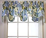 Hydrangea Scallop Valance 70-inch-by-16-inch, Blue Review