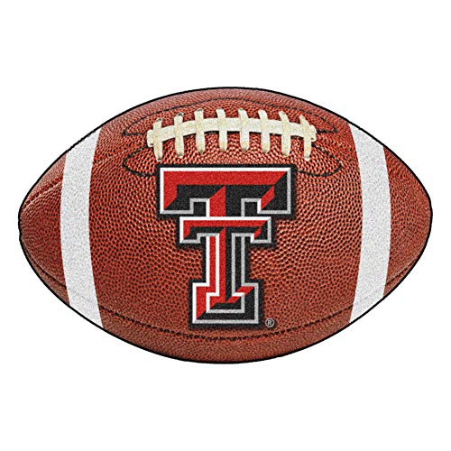 Texas Tech Rug - FANMATS NCAA Texas Tech University Red Raiders Nylon Face Football Rug