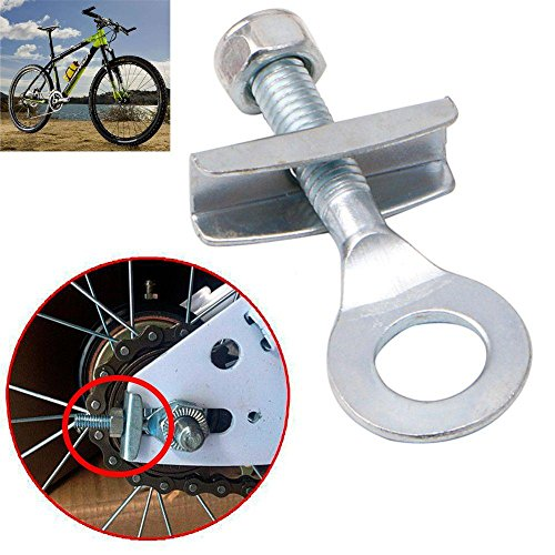 Xinnyuan 2Pcs Adjuster Bicycle Accessories Fixed Gear Durable Cycling Sliver Single Speed Track Bike Chain Tensioner