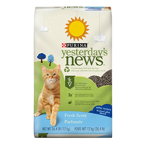 Purina Yesterday's News Non Clumping Paper Cat Litter; Fresh Scent Low Tracking Cat Litter - 26.4 lb. - Paper Litter