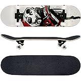 FunTomia® Skateboard FunTomia con rodamientos ABEC-11 y rodillos de dureza 100A - hecho con 7 capas de madera 100% arce canadiense