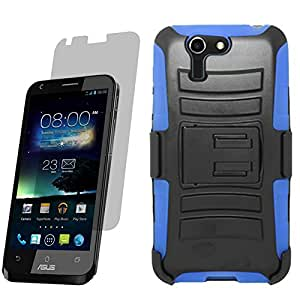 Aimo Wireless Armor Shield Combo Case Holster for AT&T Asus Padfone X -Blue