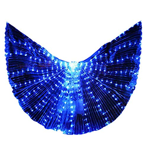 Belly Dance LED Angel Isis Wings Kids with Flexible Sticks Halloween Party (Blue) ()