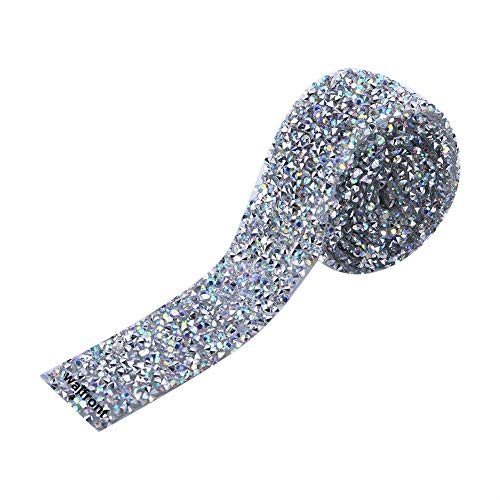 Glitter Tape Sparkle Tape Shiny Masking Rhinestone Tape Sticky Adhesive DIY Tape, Crafts Gift Tape for School Office Home Decoration and Kid Projects (AB)