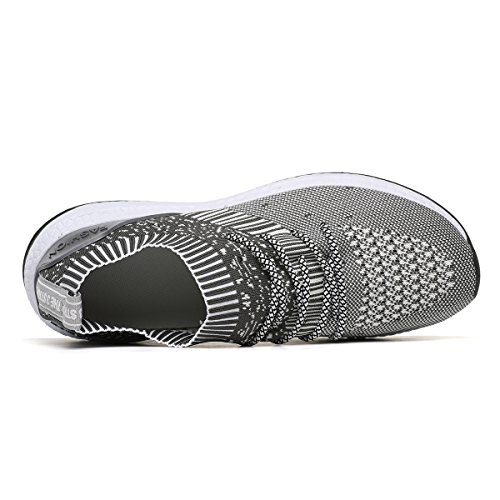 Lightgray Men's Sneakers Casual Lightweight RomenSi Shoes Running Breathable Gym R8wBFBWqTd