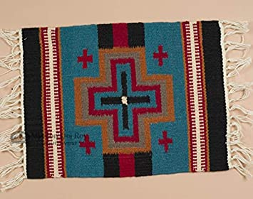 Mission Del Rey Southwestern Woven Wool Table Runners Placemats Cross Placemat 15x20