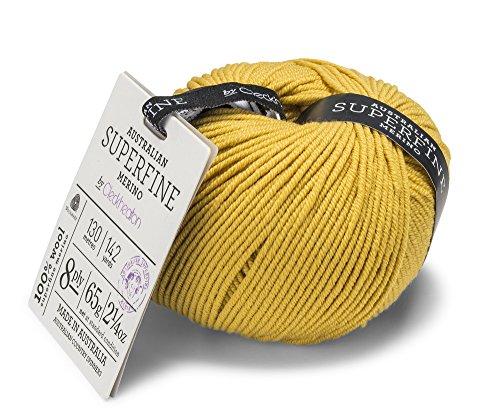 Choice Yarn Mustard - Cleckheaton Super Fine Merino Yarn, Mustard
