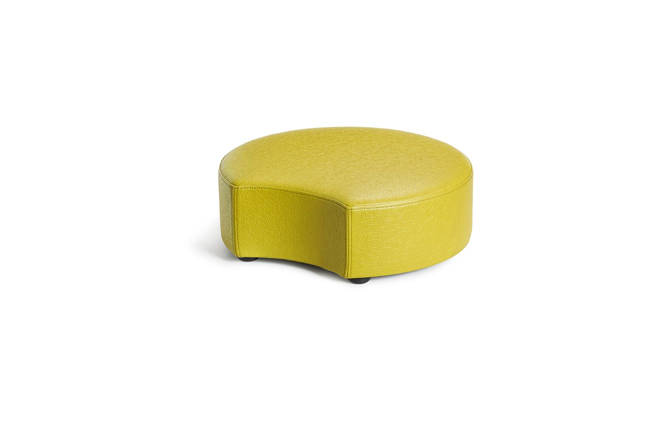 Logic Furniture MOONCZT06 Moon 2 Crescent Ottoman, 6'', Zest