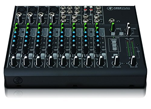 Mackie 1202VLZ4 | High-Performance VLZ4 Series Phantom Powered 12-Channel Analog Mixing Station, 1202VLZ4 with 4 Onyx Mic Preamps and 4 Stereo Channel (12-Channel)