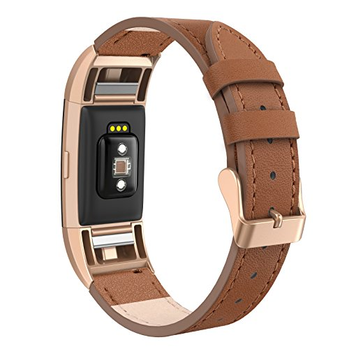 Buckle Leather Wristband (Swees For Fitbit Charge 2 Bands Leather Small (5.6