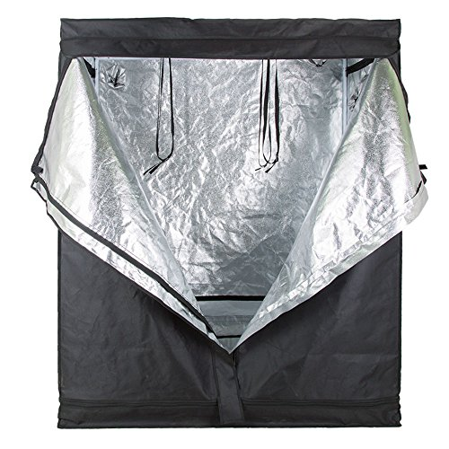 Ogori Hydroponic Indoor Grow Tent, 600D Heavy Duty Mylar Hydroponic Non Toxic Clone Hut Fabric Grow Room for Efficient Indoor Plant Growth (48''X24''X60'')